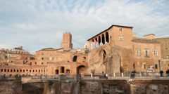 Trajan forum in Rome - stock footage