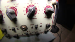Buttons close equipment electrical lab Stock Footage