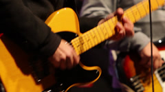 Hitting the strings - stock footage