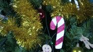 Stock Video Footage of Christmas Tree Closeup 1 tilt