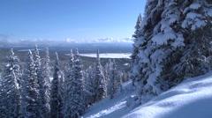 Snowy Montana Stock Footage
