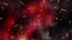 Falling bullets and grunge loop R54 Stock Footage