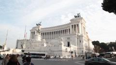 Altare patria in Rome Stock Footage