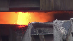0222 Copper foundry - stock footage