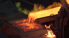 0219 Copper foundry Stock Footage