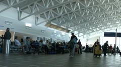 San Juan Puerto Rico airport passengers fast timelapse HD 1229 Stock Footage