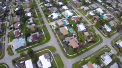 Arial neighborhoods - stock footage