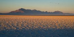 Bonneville salt flats tooele county utah pleistocene lake sunset Stock Photos