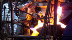 0225 Silver furnace - stock footage