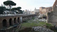 Imperial roman  vespasiani forum , Rome, Italy Stock Footage