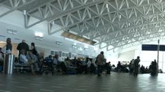 San Juan Puerto Rico Airport terminal passengers HD 1229 Stock Footage