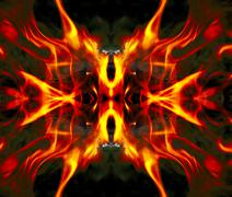Detail fire blaze on concolorous background - abstract Stock Photos