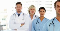 Serious medical team Stock Footage