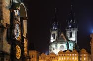 Stock Photo of Czech republic - metropolises Prague . Staromestske square - astronomical clock