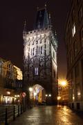 Czech Republic - Prague - Prasna tower Stock Photos