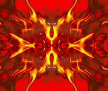 Detail fire blaze on concolorous background - abstract - stock photo
