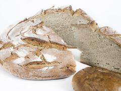 Bakery foodstuffs on white background - Shot in a studio Stock Photos