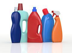 Stock Illustration of detergent bottles