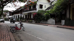 A local Tuk Tuk in Luang Prabang Laos Stock Footage