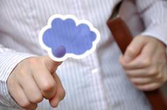 cloud computing - stock illustration