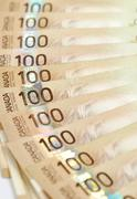 Kanadan sadan dollarin seteleitä Kuvituskuvat