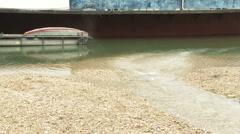 Sewage Water Enters River Danube 1 Stock Footage