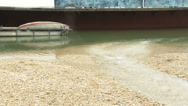 Stock Video Footage of Sewage Water Enters River Danube 1