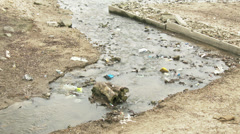 Sewage Water Enters River Danube 2 Stock Footage