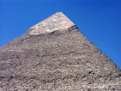One pyramid with people in Giza valley - Cairo Stock Photos