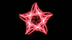 Red Electric Pentagram 5 slow Stock Footage