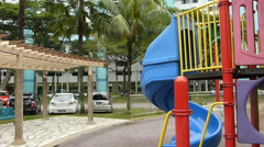 Children playground of public housing, Singapore (HDB--7B) Stock Footage