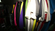 Stock Video Footage of clothing in closet