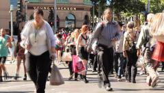 062 Timelapse crowd - stock footage