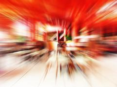 abstract red restaurant - stock photo