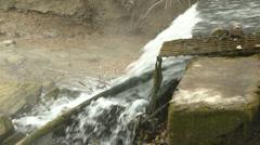 Sewage Water Flowing 4 Stock Footage