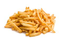Pile of french fries Stock Photos