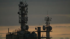 Antenna tower Stock Footage