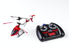 radio-controlled model of the helicopter - stock photo