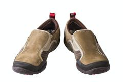 women's athletic shoes - stock photo