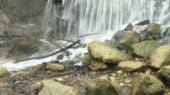 Sewage Water Flowing 8 tilt Stock Footage