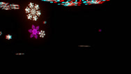 Stock Video Footage of vj, Snowflakes on a black background. 3d, stereoscopic, anaglyph