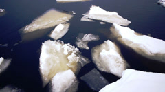 Floating of Onego lake ice, Petrozavodsk Stock Footage