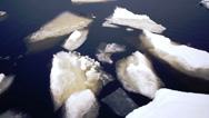 Stock Video Footage of Floating of Onego lake ice, Petrozavodsk