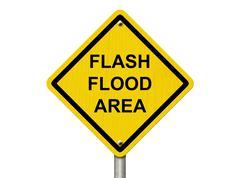 Flood warning Stock Illustration