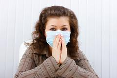 illness at work - stock photo