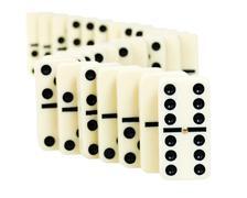 zigzag from dominoes - stock photo