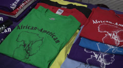 African-american themed tee shirts Stock Footage