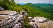 Stock Photo of view from cliffs on big schloss, in george washington national forest, virgin