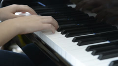 Piano Practicing.mp4 Stock Footage