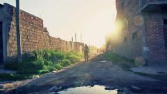 Slums Argentina - stock footage